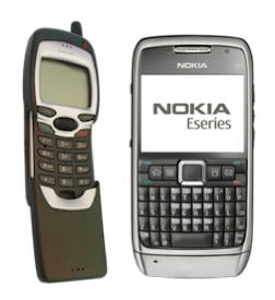 Nokia 7110 and Nokia E71