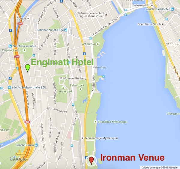 Ironman Zurich location map
